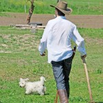 farmer walking